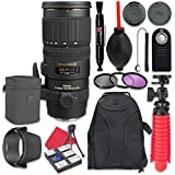 Sigma 70-200mm f/2.8 EX DG APO OS HSM for Canon + Accessory Bundle
