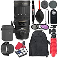 Sigma 70-200mm f/2.8 EX DG APO OS HSM For Nikon + Accessory Bundle