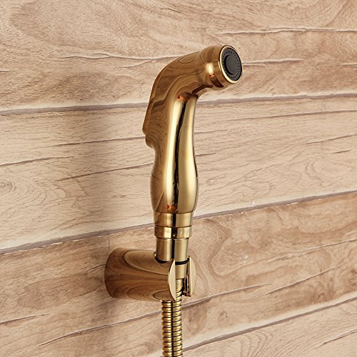 Luxurious shower MAIDEER Gold ABS-Spritze in der Hand gehalten wc bidet Spray shattaf spray Fabrik verkauf Goldene dusche wc Kopf jet set -MD-N53