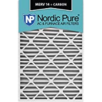 Nordic Pure 20x30x2M14+C-3 MERV 14 Plus Carbon AC Furnace Air Filters, Qty-3
