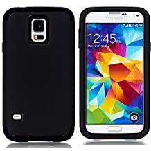 Galaxy S5 Case,LUOLNH 3-Piece High Impact Hybrid Defender Case For Samsung Galaxy S5 i9600 (not fit Galaxy S5 mini 2014)(Black)