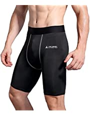 AMZSPORT Men's Sports Compression Tights Cool Dry Baselayer Leggings Pro Traning Short Pants