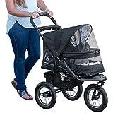 Pet Gear No-Zip NV Pet Stroller, with Zipper Less Entry, Dalmatian