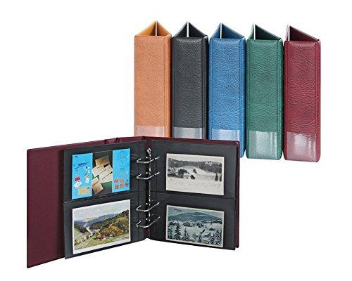 Multi collect-Postkartenalbum [Lindner 1300PK] für max. 120 Postkarten, Farbe: hellbraun