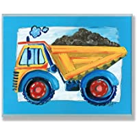 The Kids Room by Stupell Yellow Dump Truck with Blue...