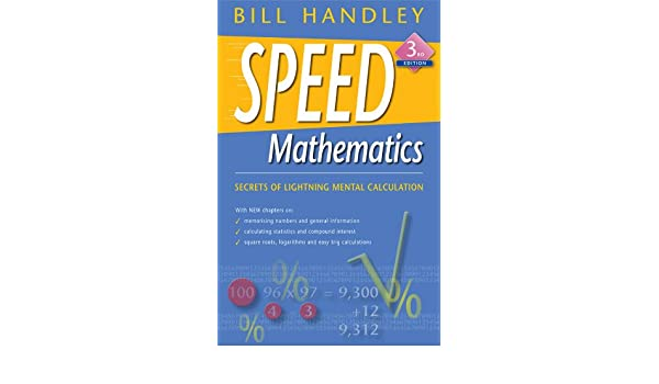 Mathematics bill handley ebook speed by
