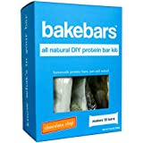bakebars All-Natural Protein Bar Kit - Chocolate Chip - Includes Pre-Measured, Macro-Friendly Ingredients for 10 Nutrition Bars - Soy, Dairy & Gluten-Free -Healthy Snack with Nutrients, Flavor & Fiber