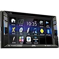 JVC KW-V220BT Double DIN Bluetooth In-Dash DVD/CD/AM/FM Receiver w/ 6.2 Touchscreen Pandora support and Sirius XM Ready