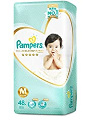 Pampers Premium Care Tape Diapers(6-11kg) (Packaging may vary), Medium, 48 ct