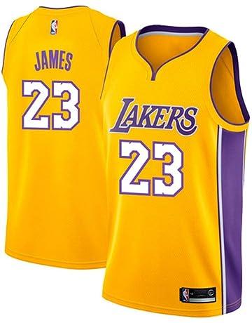 acf3664689 runvian Men's Jersey - NBA Lakers #23 Lebron James Mesh Basketball Swingman  Jersey