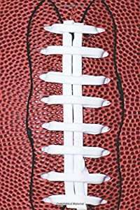 Sports Journals Football Photo: (Notebook, Diary, Blank Book) (Sports Photo Journals Notebooks Diaries)