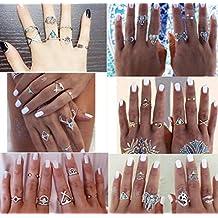 KMG Women Jewelry,Kimloog 38Pcs Vintage Beach Bohemian Vintage Knuckle Rings Set