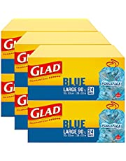 Glad Blue Recycling Bags - Large 90 Litres - Easy-Tie Handles
