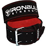 Power Lifting Belt - 10mm Double Prong - 4-inch Wide - Heavy Duty for Extreme Weight Lifting (Small)
