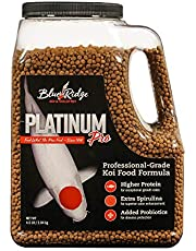 "Blue Ridge Fish Food, Platinum Professional Formula 3/16"" Floating Pellet, Koi and Goldfish"