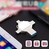 Huangyongchun Mobile Phone U Disk Four-in-one Metal Multi-Function U Disk 8/16/32/64/128G