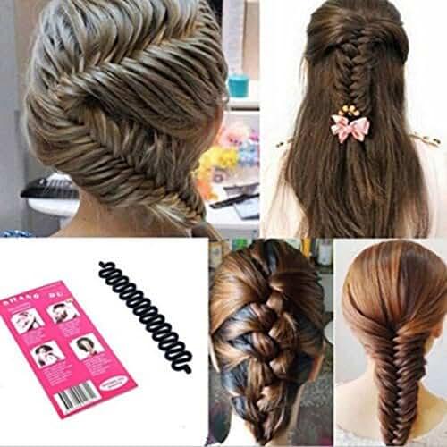 LKE® 3pcs/set Women Fashion Hair Styling Clip Hair Braider Twist Styling Braid Tool Magic Wonder Holder Clip DIY French