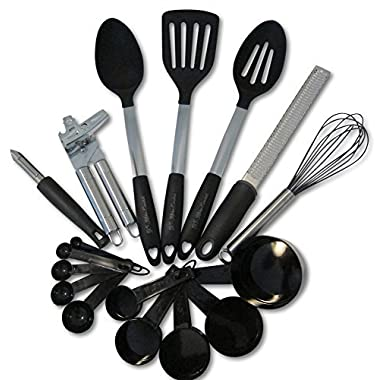 Kitchen Utensils and Gadgets 17 piece Silicone and Stainless Steel Cooking Tools Set – Cooks Essentials Cookware