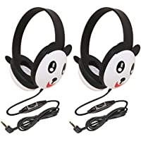 Califone 2810-PA Listening First Stereo Headphone, Panda Motif - Pack of 3