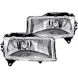 Anzo USA 111021 Dodge Dakota/Durango Crystal Chrome Headlight Assembly - (Sold in Pairs)