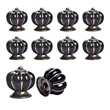 Ceramic Knobs and Handles Yazer Durable Modern Design Elegant Knobs and Handles for Cabinet,Drawer,Dresser,Kitchen Cabinet,Dresser (Black)