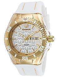 TechnoMarine 'Cruise Monogram' Quartz Stainless Steel and Silicone Watch, Color:White (Model: 115210) by TechnoMarine
