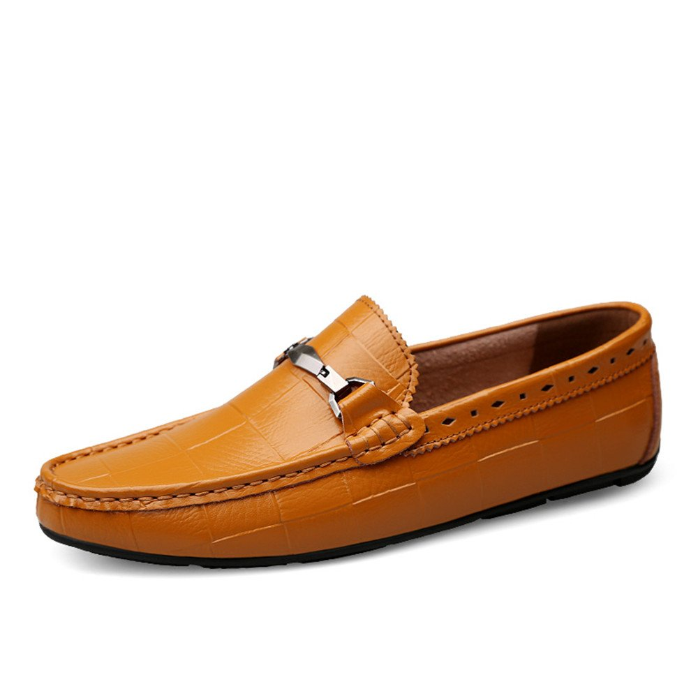 Brown XIANGBAO-Personality Men's Classic Driving Moccasins Slip On Loafers Comfortable Casual Driving shoes for Men