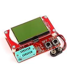 DROK Multifunction Mega328 NPN/PNP Transistor Checker Capacitor ESR SCR/MOSFET/Resistor/Diodes Tester Meter 12864 LCD Display