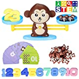 Counting Toys,Monkey Balance Montessori Educational STEM Math Counting Games & Balance Measuring Fun Gift for Girls & Boys Kids Ages