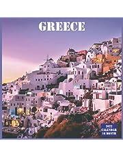 Greece Calendar 2022: Official Greece Country Calendar 2022, 16 Month Calendar 2022