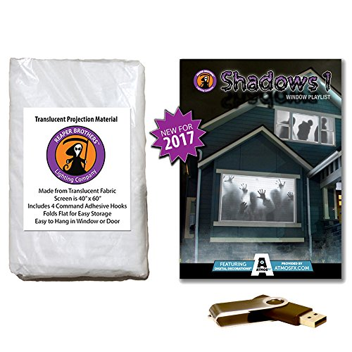 AtmosFearFX Shadows Halloween Compilation Video on USB and Reaper Brothers High Resolution Projection Screen -