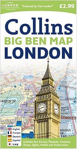 London Big Ben Map Amazoncouk Collins 9780007273843 Books