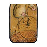 TIZORAX iPad Pro 12.9 Inch Case, Vintage Cow On The Bicycle Smart Protective Cover, Build-in Pencil Holder for Apple iPad Pro 12.9