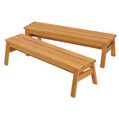 Kaplan Early Learning Company Outdoor Wooden Stacking Benches - Set of 2: Toys & Games