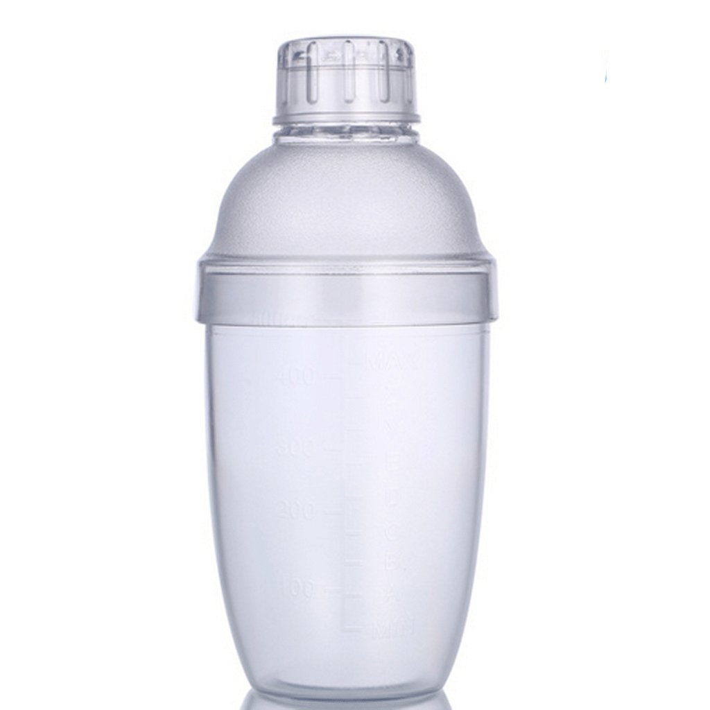 F Fityle Pack 2 Clear Cocktail Shaker Drink Mixer Bartender Tool 530ml+700ml