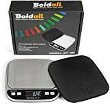 Boldall Portable Digital Kitchen Food Scale with Black Cover, 500 grams x . ....