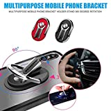 wanzi2 Handsfree Phone Ring Holder Multipurpose Mobile Phone Bracket Mount Air Vent Outlet Holder Stand 360 Degree Rotation Steady for Car Home (Black)