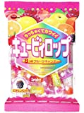 Bourbon Cubyrop, Japanese Cubed Hard Candy Assorted Fruit Flavors 112g (Pack of 2)