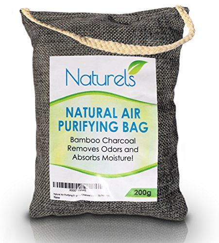 Natural Air Purifying Bag - Bamboo Charcoal Naturally Removes Odors and Moisture, Freshening the Air! Chemical Free and Scent Free! 200g