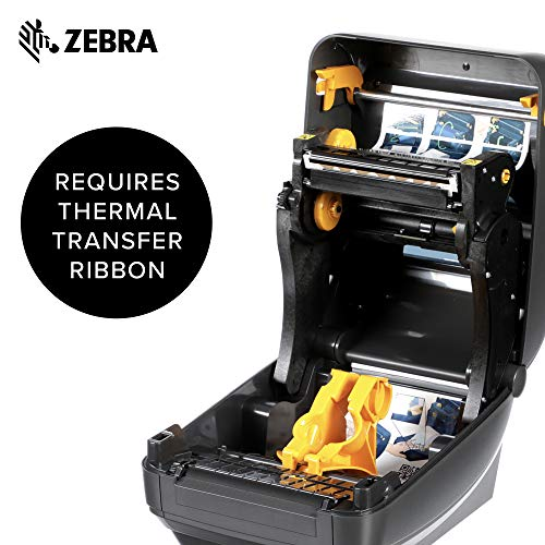 Zebra - ZD500t Thermal Transfer Desktop Printer for Labels and Barcodes - Print Width 4 in - 300 dpi - Interface: Ethernet, Parallel, Serial, USB - ZD50043-T01200FZ by Zebra Technologies (Image #3)