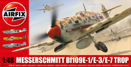Airfix A05122 Messerschmitt Bf109E Tropical 1:48 Scale Military Aircraft Series 5 Model Kit
