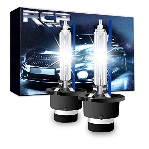 RCP - D4S8 - (A Pair) D4S/ D4R 8000K Xenon HID Replacement Bulb Ice Blue Metal Stents Base 12V Car Headlight Lamps Head Lights 35W