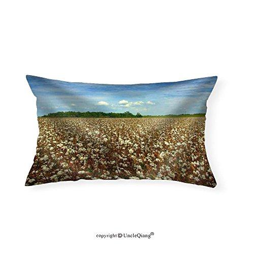 VROSELV Custom pillowcasesCotton Field Ready for Harvest - Fabric Home Decor(16''x24'') by VROSELV
