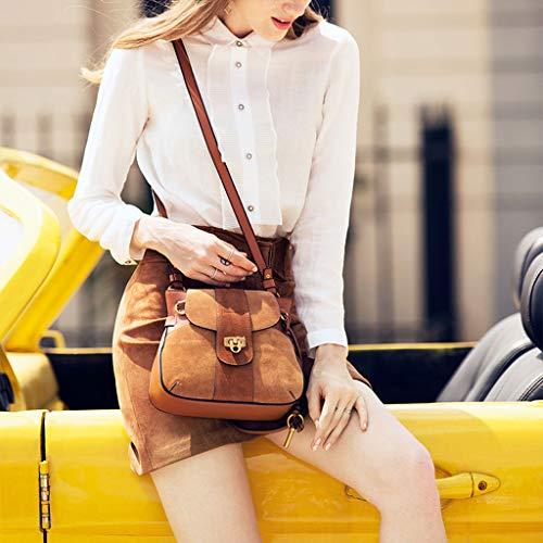 Bag use PU Multi Scrub Lock Rouge pour Messenger Ladies Sac Sac selle Boucle Bag Sac main femme Vin à de épaule qUwxwp4a