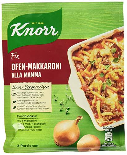Knorr Fix Würzbasis (für Pasta: Ofen-Makkaroni Alla Mamma ohne Farbstoffe) 3 Portionen, 1er Pack (1 x 48 g )