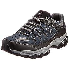 Skechers Sport Men's Afterburn Memory Foam Lace-Up Sneaker, Navy, 12 4E US