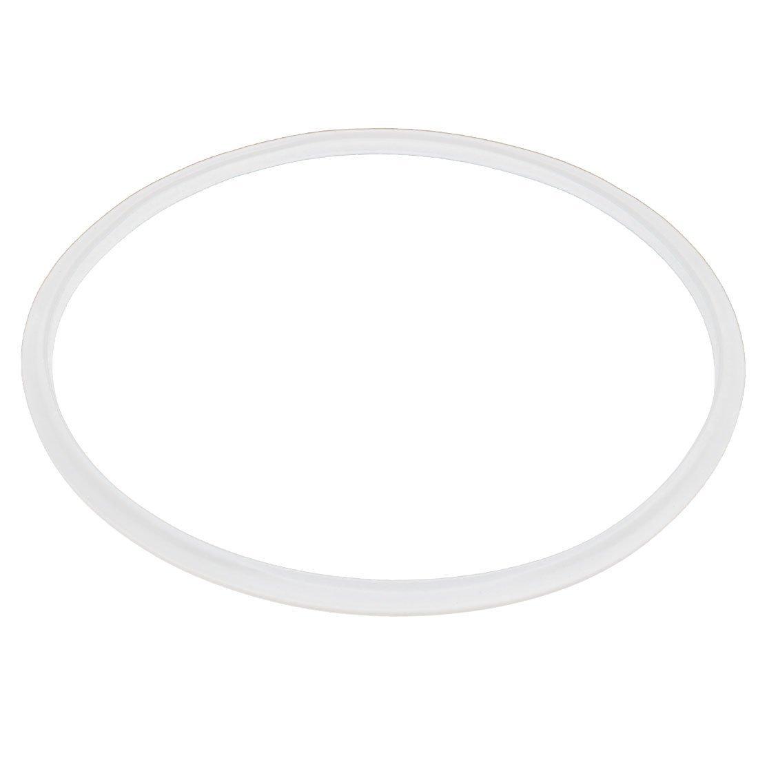 27cm eléctrico reemplazo olla de presión junta de estanqueidad del anillo blanco claro DealMux