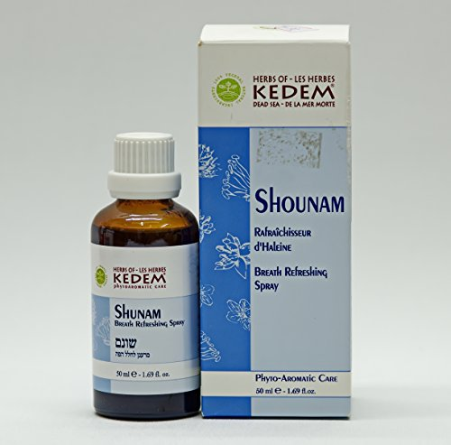 Kedem Natural Organic Herbal Spray Cough Asthma Allergy Shounam Dead Sea Israel by Shounam