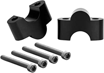 Solid Aluminium for 1 inch 25mm bars Black Motorbike Handlebar Risers