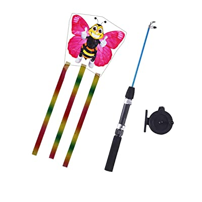 Huilier Fish Pole Kite Very Easy to Fly with 82ft Line Kid Kite Novelty Kite Toy Outdoor: Arts, Crafts & Sewing